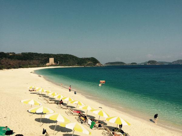 座間味島ビーチ 砂浜