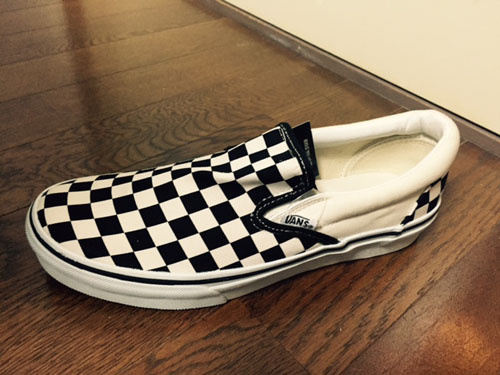 【VANS】SLIP ON BLACK/WHT/CHK