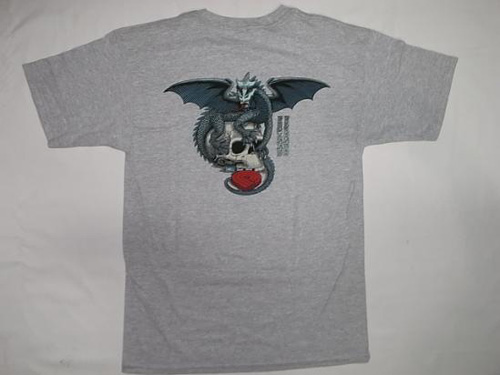 POWELL PERALTA DRAGON SKULL Tシャツ④