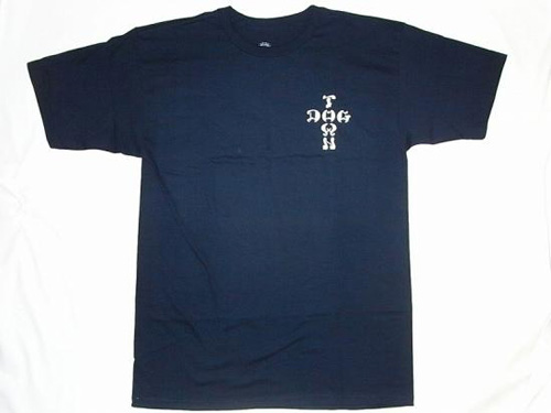 DOG TOWN BOARD WE TRUST CROSS Tシャツ①